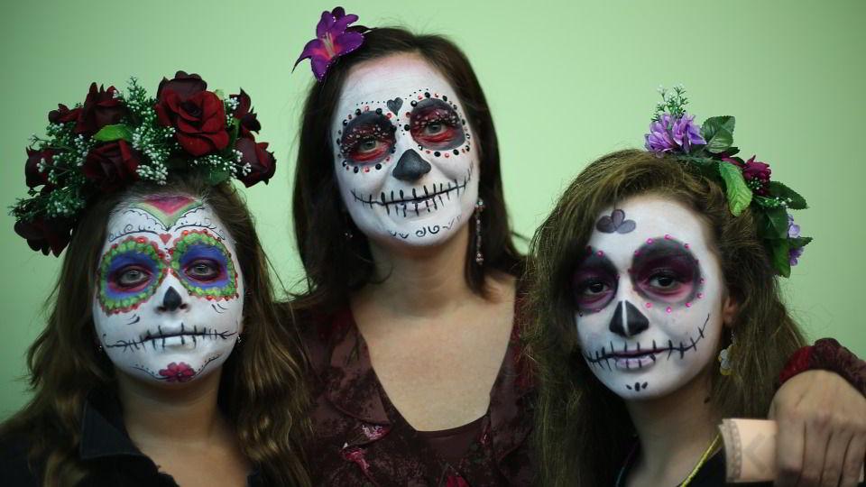 chicas disfrazadas muerte mexicana